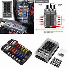 12 Way Blade Fuse Box Bar Kit Fuses Holder For Auto
