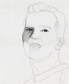 portrait 6 realistic graphite pencil work in progress by