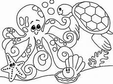 ausmalbilder ozean tiere kostenlose malvorlagen ideen