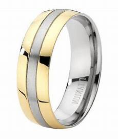 men s two tone titanium 8mm comfort fit wedding ring with brushed finish justmensrings com