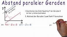 erkl 228 rvideo abstand paralleler geraden lineare funktion