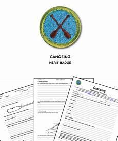 canoeing merit badge worksheet requirements