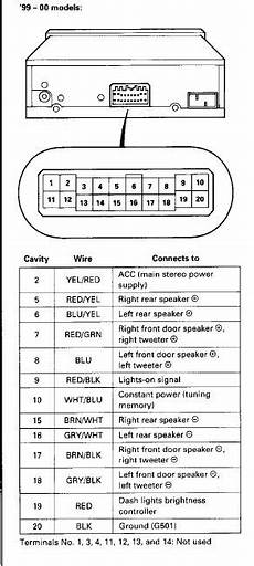 99 00 civic oem radio wiring diagram honda tech