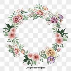 bordure en fleur beautifully painted wreath border flower vector
