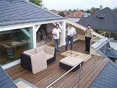 Terrasse Im Dach - edelstahl elemente balkon in dachschr 228 ge einbauen