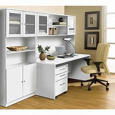 unique furniture 100 series white executive office desk