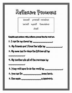 reflexive pronouns 2nd grade common core by ramsey tpt