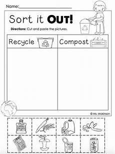 free printable sorting worksheets for grade 7981 free earth day printables recycling and compost cut and paste homeschool