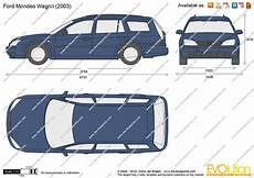 The Blueprints Vector Drawing Ford Mondeo Wagon