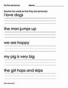 writing simple sentences worksheets 1st grade 22232 16 best images of kindergarten writing sentences worksheet sentence worksheets asking and