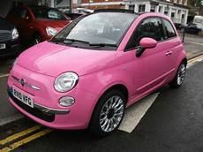 Fiat 500 Pink Convertible