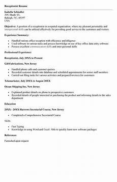 veterinary receptionist resume sle resume template 2018 veterinary receptionist receptionist