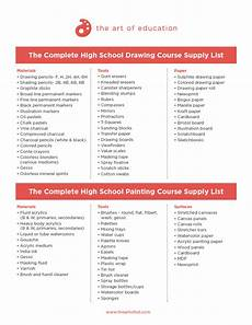 a complete list of supplies for your new art room the