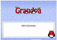 large dl merry christmas grandpa insert with penguins cup1009778 359 craftsuprint