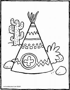 malvorlage indianerzelt coloring and malvorlagan