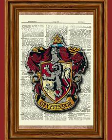 Malvorlagen Harry Potter Gryffindor Harry Potter Dictionary Print Picture Poster