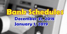 1 January 2019 31 December 2019 by Bank Schedules For December 31 2018 January 1 2019