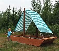 sandkasten selber bauen white sail boat or ship sandbox diy projects