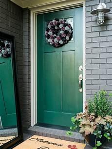 easy exterior updates fresh front door paint hgtv