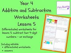 subtraction exchange worksheets 10070 subtract two 4 digit numbers no exchange worksheets year 4 addition and subtraction