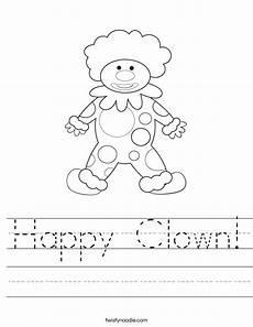 happy clown worksheet twisty noodle