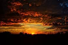Sunset Orange Sky Wallpaper