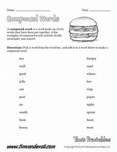 compound words worksheet 02 tim s printables