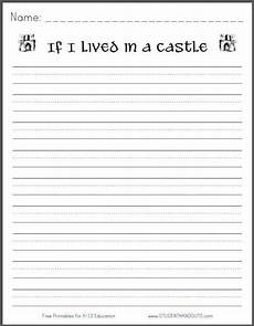 writing worksheets for 3rd grade 22914 if i lived in a castle free printable writing prompt with images kindergarten writing