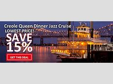 Creole Queen Dinner Jazz Cruise   Save 15% with Coupon Codes