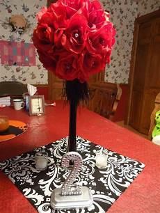 centerpiece wedding black red silver my dream wedding