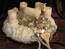 adventskranz filz mit schaukelpferd fleuromantic auf