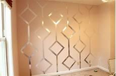 walls with diy metallic patterns how about orange