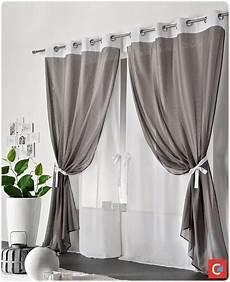 rideau et voilage sur même tringle doubles rideaux 2 rideaux sur une tringe curtina