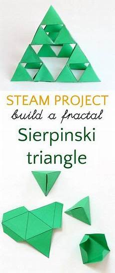 last year my math class created a sierpinski pyramid math math class and math art