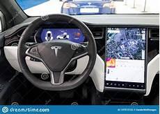 interior model e tesla porsche interior tesla model x luxury electric car editorial