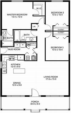 3 bedroom country house plans country house plan 3 bedrooms 2 bath 1260 sq ft plan