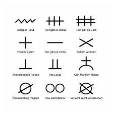 einbrecher symbole bedeutung zinken geheimzeichen