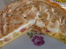 Rhabarberkuchen Mit Vanillepudding Und Baiser Rezept Mit