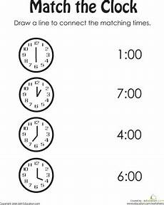 time on the hour worksheets for kindergarten 3611 clock practice worksheet education