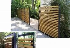 Holzlamellen Als Sichtschutz Modern Gartenzaun Holz Modern