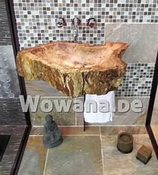 waschbecken aus fossilem holz versteinertes holz jedes
