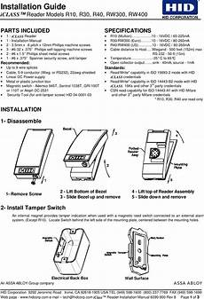 609xa proximity reader user manual manual hid global