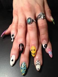 pin by becki on nails edgy nails hippie nails grunge nails