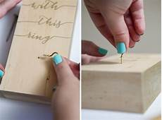 make your very own wooden block wedding ring holder
