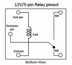12 volt 5 pin relay wiring diagram clap switch circuit project line circuit