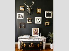 Down to Earth Style: Paint A Black Accent Wall