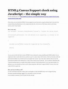 html5 canvas support check using javascript the simple way