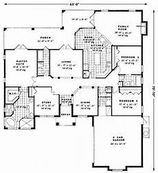 eplans mediterranean house plans mediterranean style house plan 3 beds 3 baths 2239 sq ft