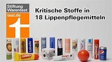 test lippenpflege kritische stoffe in vielen