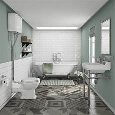 Bathroom Suite Ideas Newbury Traditional Back To Wall Roll Top Bath Suite At